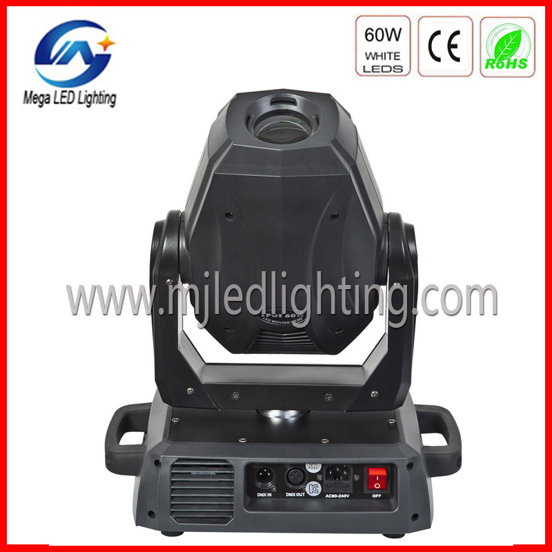 Guangzhou stage moving light 60W LED moving head gobo projector
