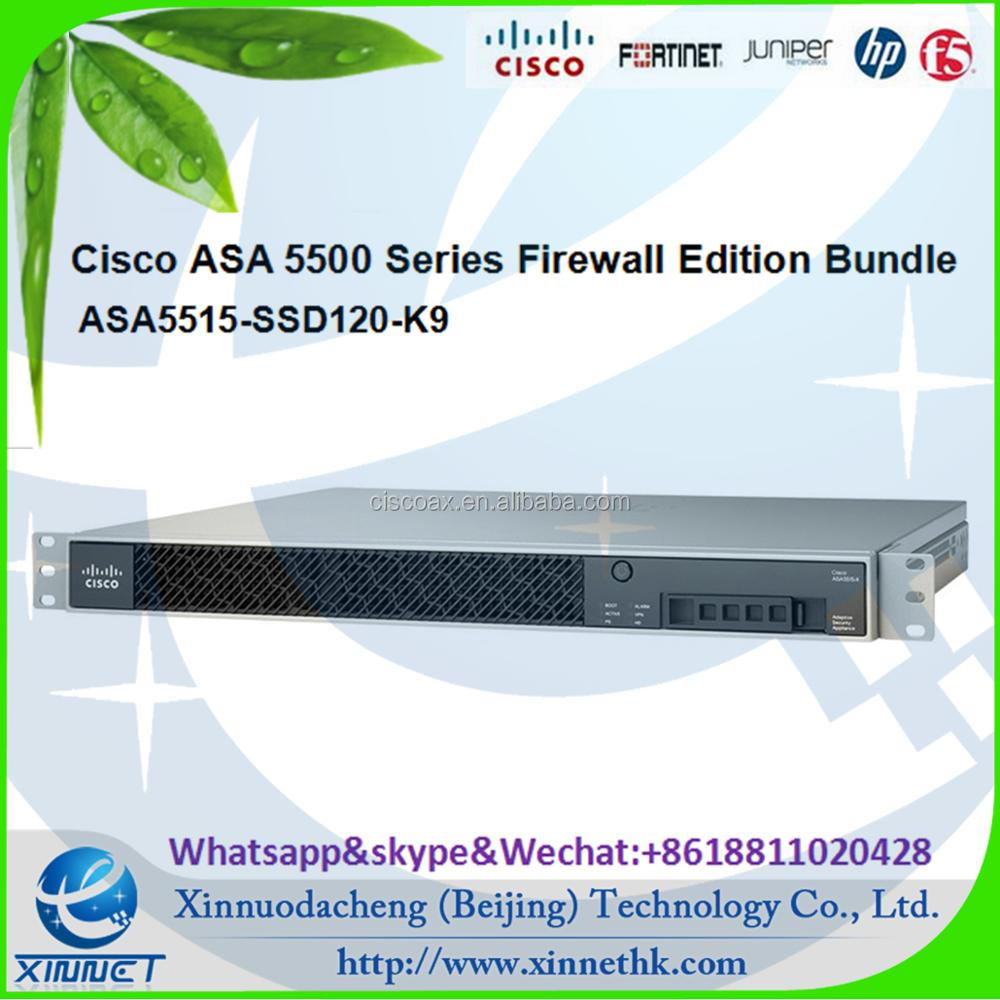Cisco ASA 5500 Firewall Edition Bundle ASA5515-SSD120-K9 ASA 5515-X with SW, 6GE Data, 1GE Mgmt, AC, 3DES/AES, 120G SSD