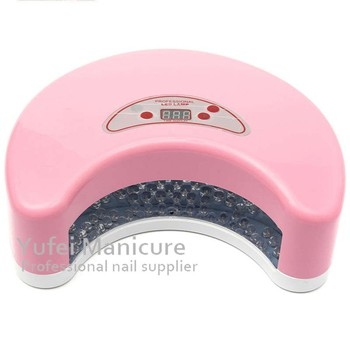 Top sale gel polish curing machine pink black red silver plastic moon shape 12w led nail lamp ce rohs