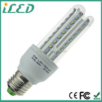 2015 New Products 2 Pin 4Pin G24 LED 220V SMD 3014 3 U Led Corn Light 5W E27 Led Corn Lamp