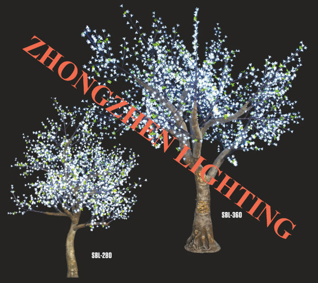 China outdoor christmas color changing led cherry blossom tree light