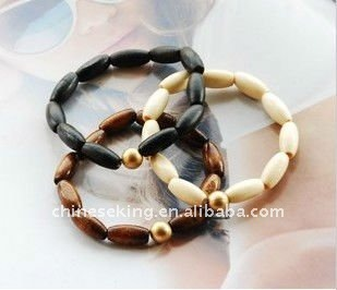 fashion wood beads bracelet set stackable wooden jewelry promotion gifts