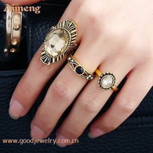 supply whole customized Three pieces of alloy acrylic ring