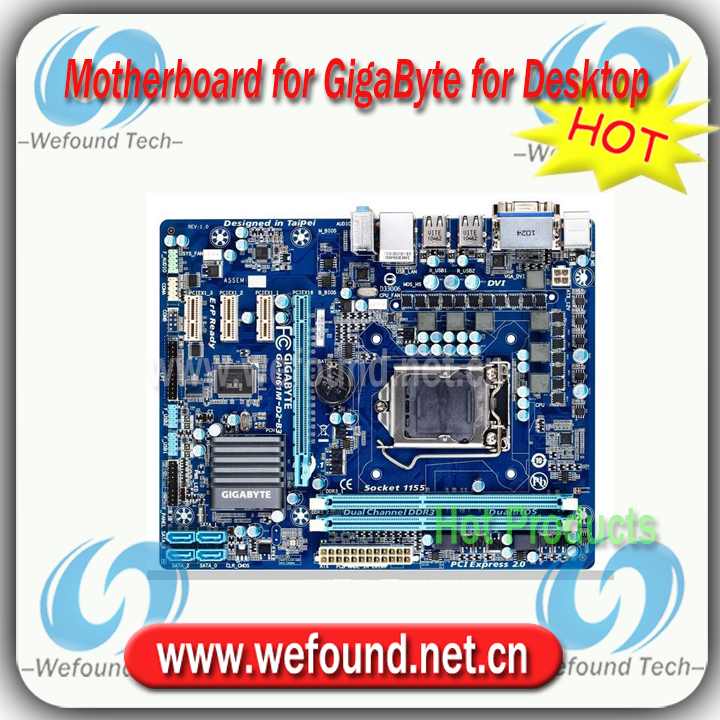 100% working for GigaByte GA-H61M-D2-B3 motherboard for Desktop for Core i3 i5 i7 for LGA 1155 for DDR3 RAM