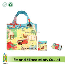 Factory in stock free samples promotional 190T polyester shopping bag