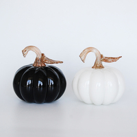 2016 New Arrival Chinese Artificial White Glass Pumpkin With Glitter Long Stem for Sale