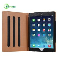 2015 New product high end stand leather flip cover case for tablet IPad Air 2