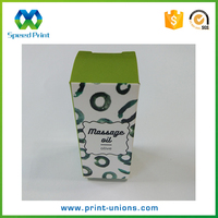 Custom small cosmetic packaging box massage olive oil paper box