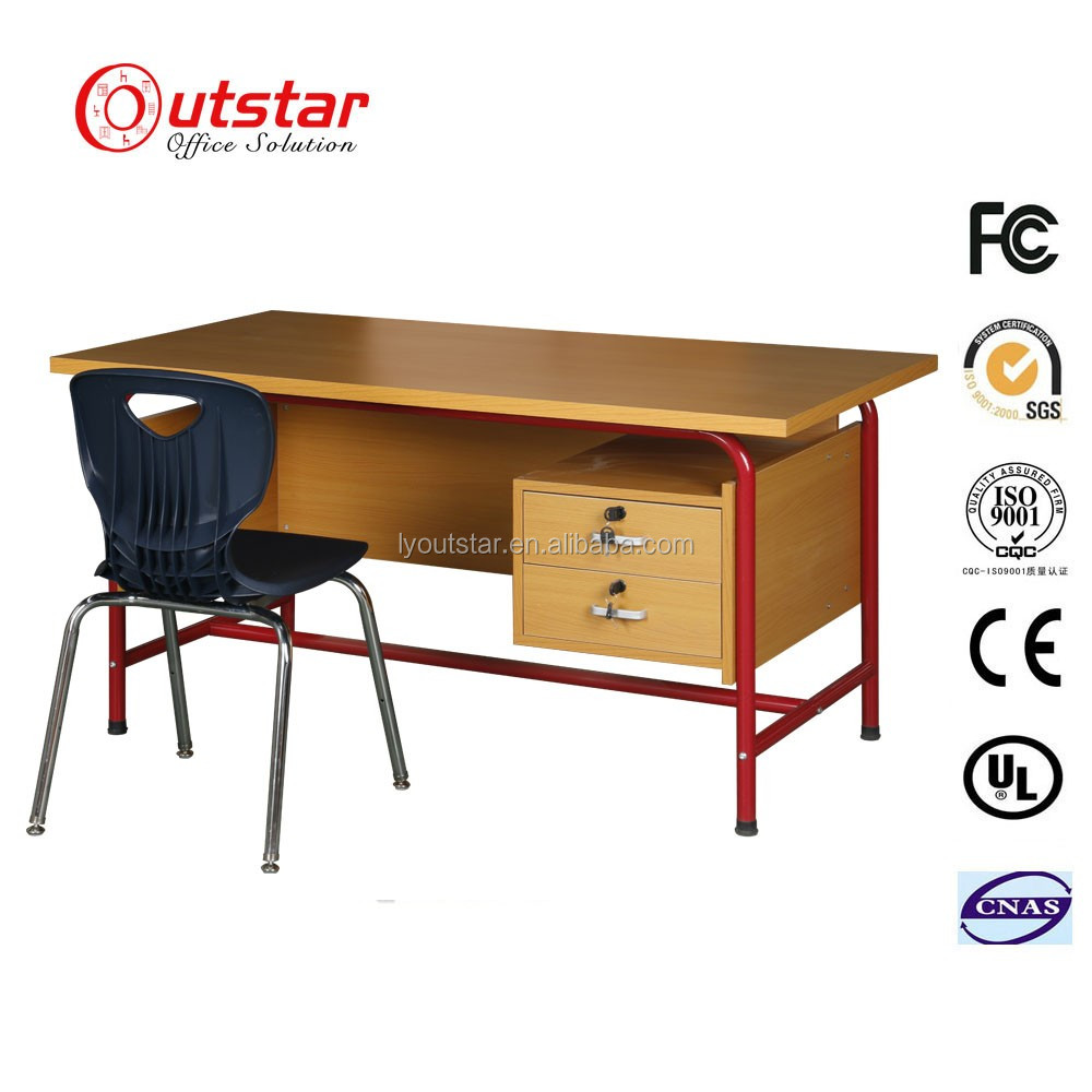 Simple design metal frame desk steel office furniture iron computer table work table