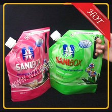 plastic bag for liquid packaging stand up spout pouch