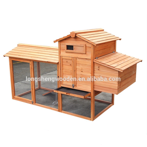 Factory price hot sales wooden chicken coop with run and nesting box