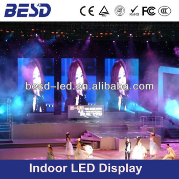 Indoor full color light weight concert p4 led display