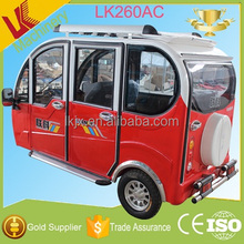 3 wheel electric bike electric tricycle with driving cab for taking passengers