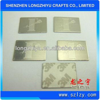 Metal aluminium laser engraved commemorative plaque 3m for Plaque de metal adhesive