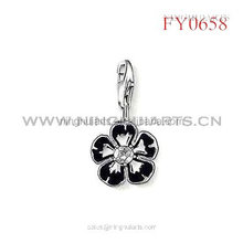 black painted flower pendant new pendant for girls