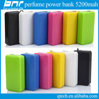 hot sale 2015 perfume 5200mah power bank portable mini power bank keychain use charge