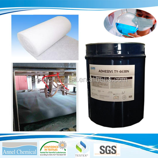 Annel Chemical TY-6638N solvent based lamination adhesive for foam to foam, foam bra pad cookies