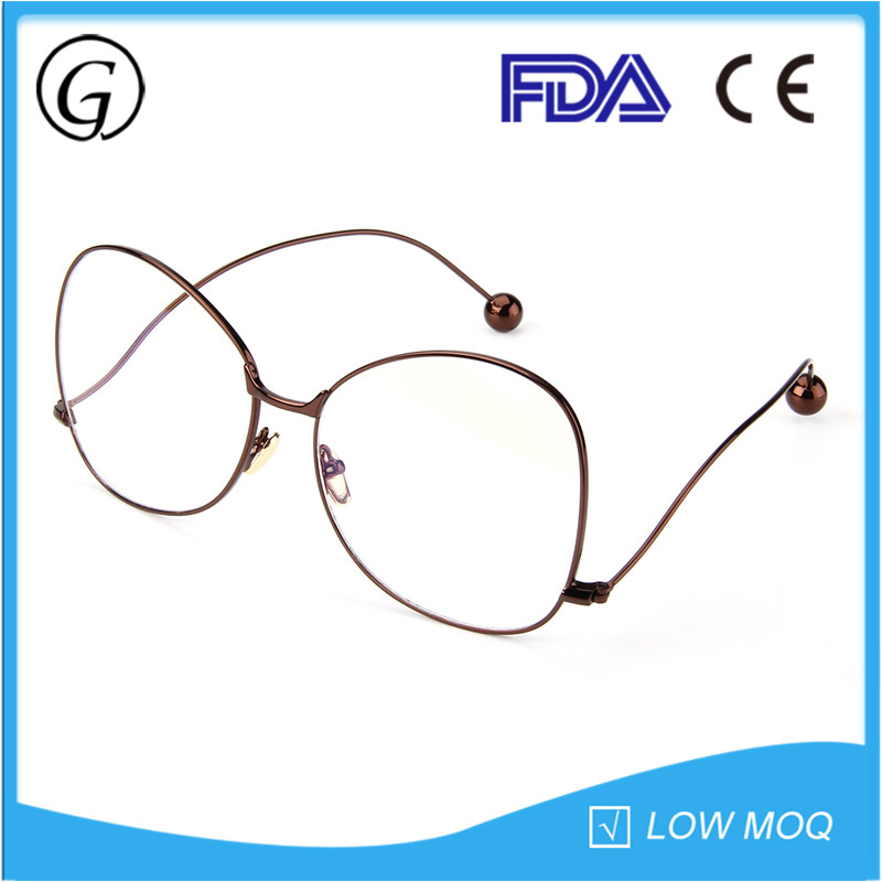 Brown China Wholesale Optical Round Eyeglasses Without Nose Pads