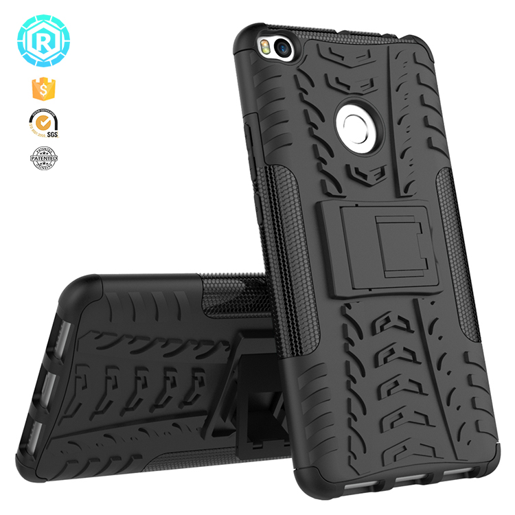 Back cover for XiaoMi Max 2 kickstand rugged case for Mi max 2