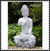 Fibre clay large buddha statues for sale