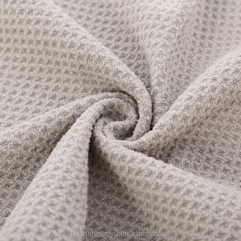 china OEM factory cotton waffle weave bath towel
