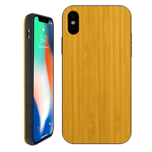 Extra Protective Log Wood Non-slip Phone Case for iPhone X TPU Rubber Layer Back Cover Case for iPhone X