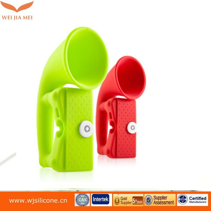 Colorful phone silicone case speaker,silicone speaker case for iphone 6