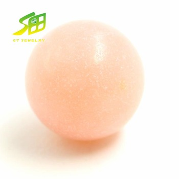hot sale natural opal pink color round shape ball gemstone