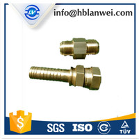 METRIC FEMALE 74 DEGREE CONE SEAT SWAGED HOSE FITTINGS REPLACE PARKER FITTINGS AND EATON