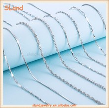 Hot sale products!China Supplier factory price & low MOQ wholesale various women 925 sterling silver chains for jewelry making