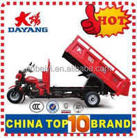 Popular 3 wheel cargo tricycle 200cc popular in south america market loading goods cargo motorcycle truck with Dumper