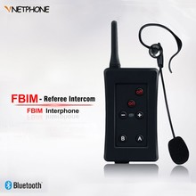 FBIM Vnetphone for Referee 4 Users 1.2km Full Duplex Talking Bluetooth Football Referee Headset