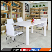 High Gloss Ergonimics Design Dining Table for 4 Seaters