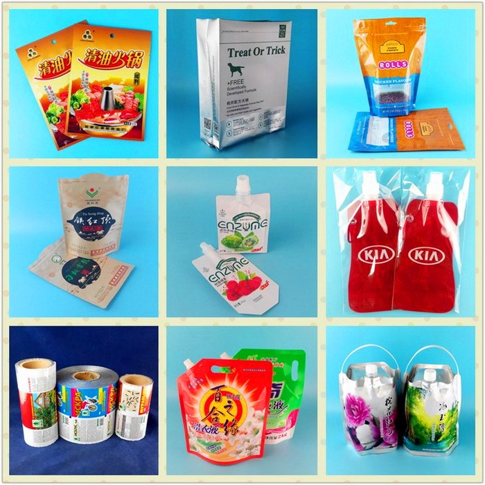 Custome Plastic stand up food bag/Food doly bag with zip