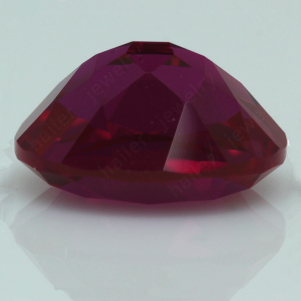 8x6mm oval shape Lab Created Red burmese ruby prices