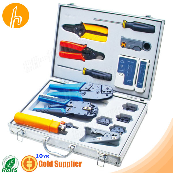 Comprehensive Network Tool Box with 15 pcs tools
