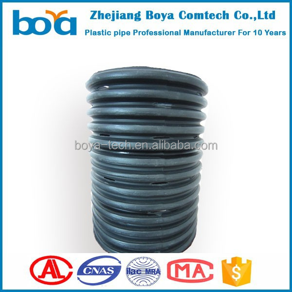 160mm hdpe Perforated Corrugated subsoil Drainage Pipe