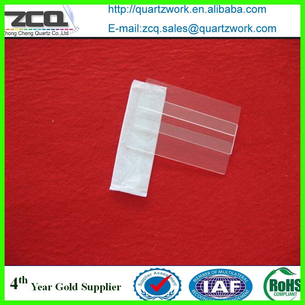 SQUARE THIN QUARTZ GLASS PLATE