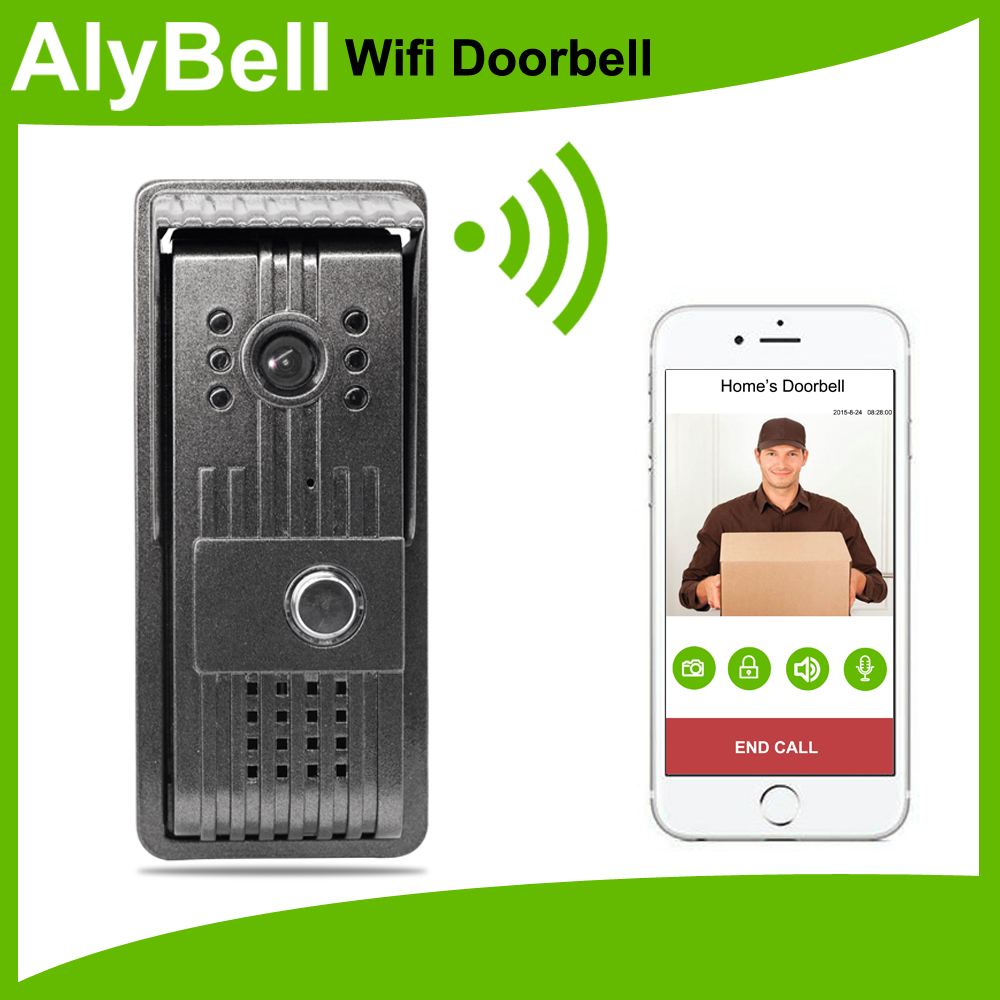 Outdoor use wi-fi video doorbell camera with motion sensor