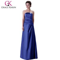 Grace Karin Sexy Strapless Mature Ladies Formal Royal Blue and Red Full Length Evening Dress CL3138-1