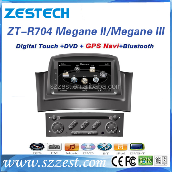 ZESTECH 2 din car multimedia car audio gps navigation for renault Megane 2/Megena III car gps navigation auto dvd player