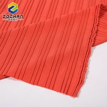 Super Soft Polyester Rayon Spandex Ribbed Twill Knitting Fabric