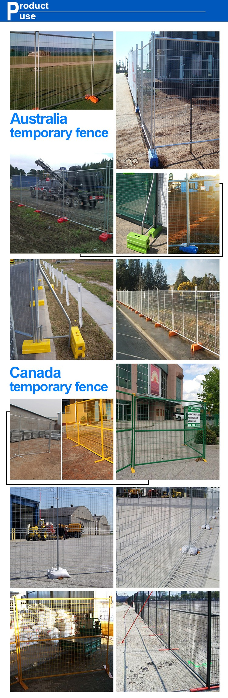 Direct factory supply hot dipped galvanized galvanized welded temporary fence