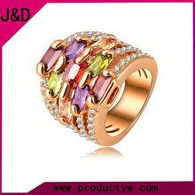 2015 Wholesale New Design Ring Gold Plated Crystal Rose Gold Rings