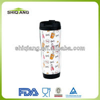 29oz 350ml DIY starbuck shape coffee travel mug tumblers with paper insert advertising mug