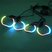 Hot selling LED 5050 SMD F30 halo ring RGB multi-color angel eye for B.MW headlight