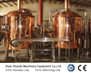 10BBL red copper turnkey beer brewery equipment with good after-sale service