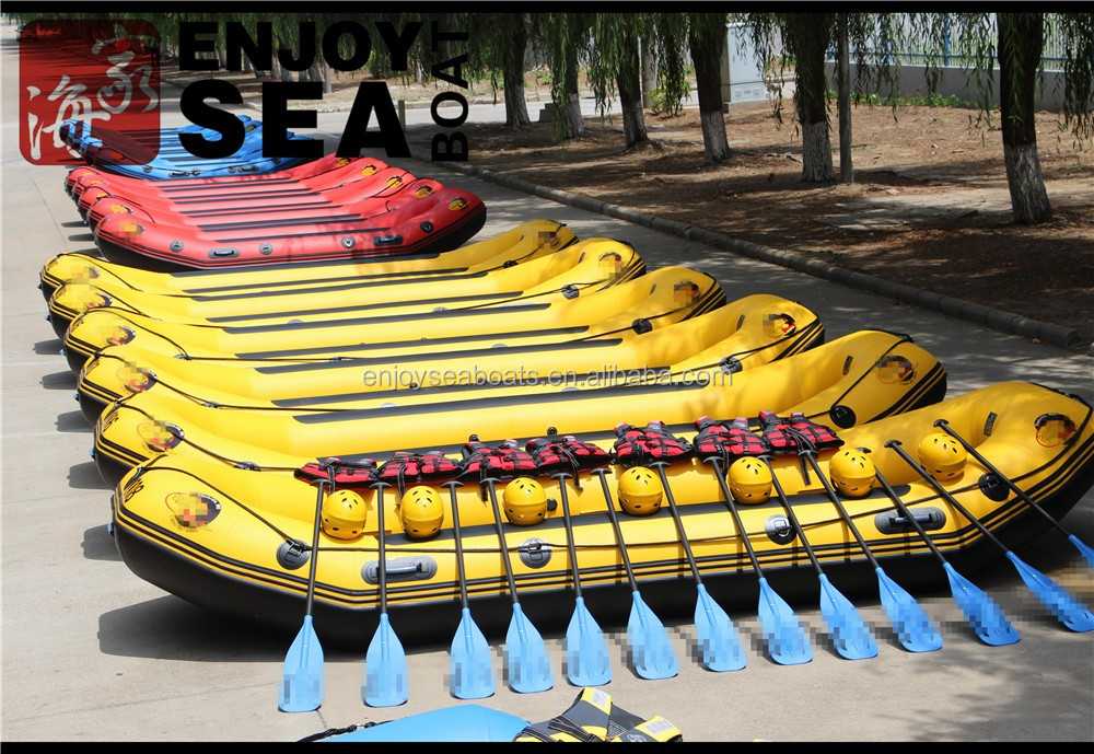 Heavy duty double floor white water rafting 8 persons river rafting boat!