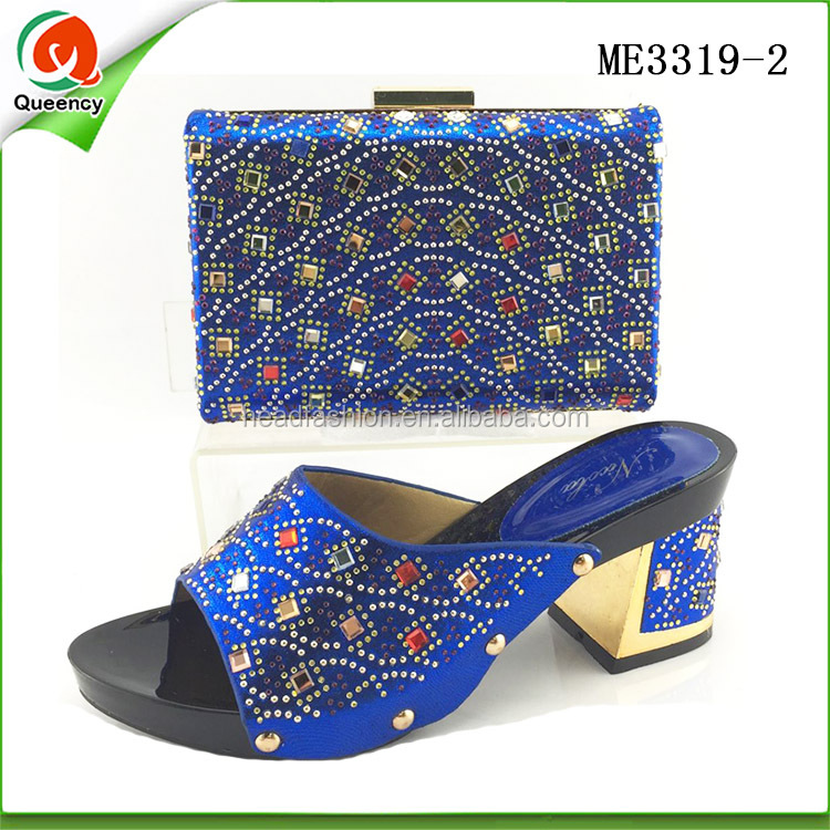 2016 latest italian bags and shoes set indian tote bags matching sandals for women