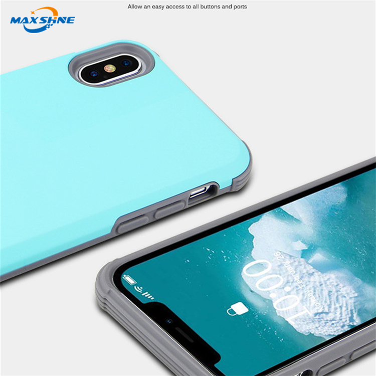 Maxshine Shockproof Tpu PC Mobile Phone Case Cover For Iphone 6 7 8 Xs/Xs Max